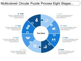 Multicolored Circular Puzzle Process Eight Stages Image