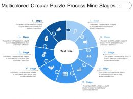 Multicolored Circular Puzzle Process Nine Stages Image