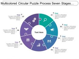 Multicolored Circular Puzzle Process Seven Stages Image