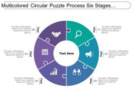 Multicolored Circular Puzzle Process Six Stages Image
