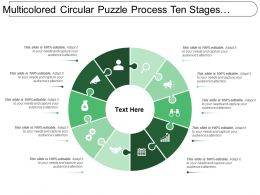 Multicolored Circular Puzzle Process Ten Stages Image