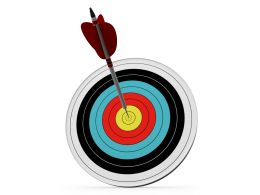 Multicolored Dart With Arrow To Show Sales Target Stock Photo