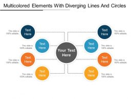 Multicolored Elements With Diverging Lines And Circles