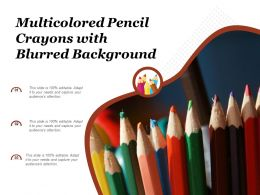 Multicolored Pencil Crayons With Blurred Background