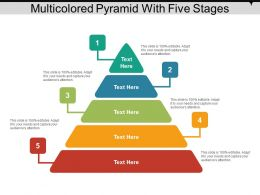 Multicolored Pyramid With Five Stages