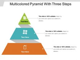 Multicolored Pyramid With Three Steps