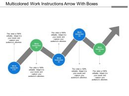 Multicolored Work Instructions Arrow With Boxes
