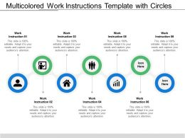 Multicolored Work Instructions Template With Circles And Icons