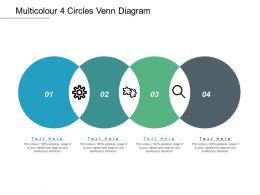 Multicolour 4 Circles Venn Diagram