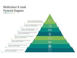 Multicolour 8 Level Pyramid Diagram