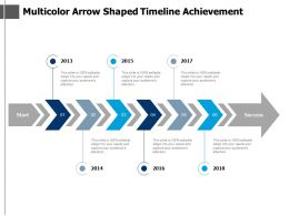 Multicolour Arrow Shaped Timeline Achievement