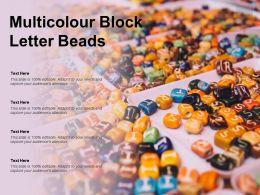 Multicolour Block Letter Beads