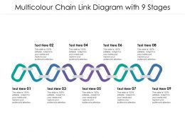Multicolour Chain Link Diagram With 9 Stages