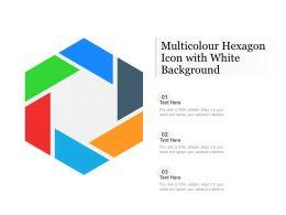 Multicolour Hexagon Icon With White Background