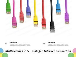 Multicolour LAN Cable For Internet Connection