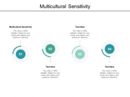 Multicultural Sensitivity Ppt Powerpoint Presentation Visual Aids Deck Cpb