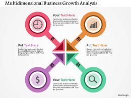 Multidimensional Business Growth Analysis Flat Powerpoint Design