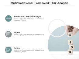 Multidimensional Framework Risk Analysis Ppt Powerpoint Presentation Icon Topics Cpb