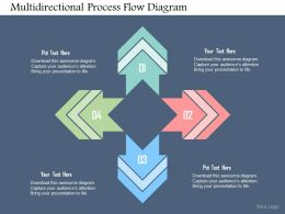 Multidirectional Process Flow Diagram Flat Powerpoint Design