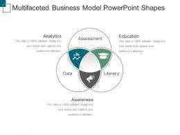 Multifaceted Business Model Powerpoint Shapes
