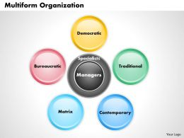 Multiform Organization powerpoint presentation slide template