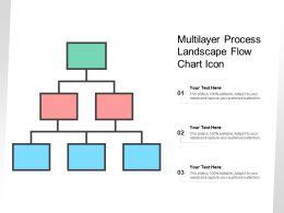 Multilayer Process Landscape Flow Chart Icon