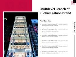 Multilevel Branch Of Global Fashion Brand