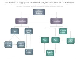 Multilevel Good Supply Channel Network Diagram Sample Of Ppt Presentation