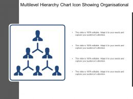 Multilevel Hierarchy Chart Icon Showing Organisational Structure