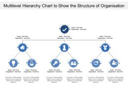 Multilevel Hierarchy Chart To Show The Structure Of Organisation