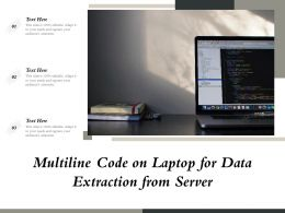 Multiline Code On Laptop For Data Extraction From Server