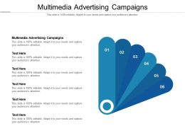 Multimedia Advertising Campaigns Ppt Powerpoint Presentation Slides Examples Cpb