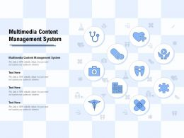 Multimedia Content Management System Ppt Powerpoint Presentation Infographics Rules