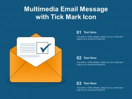 Multimedia Email Message With Tick Mark Icon