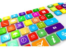 Multimedia Keyboard For Professional Use Stock Photo