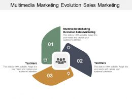 Multimedia Marketing Evolution Sales Marketing Ppt Powerpoint Presentation Infographic Cpb
