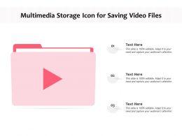 Multimedia Storage Icon For Saving Video Files