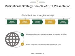 Multinational Strategy Sample Of Ppt Presentation