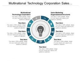 Multinational Technology Corporation Sales Marketing Organizational Structures Cpb