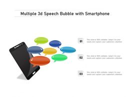 Multiple 3d Speech Bubble With Smartphone