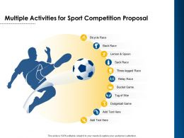 Multiple Activities For Sport Competition Proposal Ppt Powerpoint Ideas Example