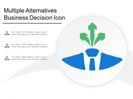 Multiple Alternatives Business Decision Icon