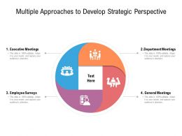 Multiple Approaches To Develop Strategic Perspective