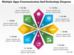 Multiple Apps Communication And Technology Diagram Flat Powerpoint Design