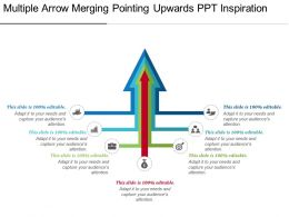 Multiple Arrow Merging Pointing Upwards Ppt Inspiration