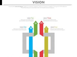 Multiple Arrows For Business Vision Analysis Powerpoint Slides