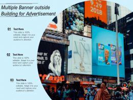 Multiple Banner Outside Building For Advertisement