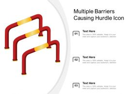 Multiple Barriers Causing Hurdle Icon