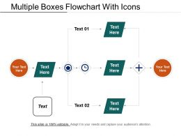 Multiple Boxes Flowchart With Icons