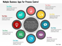 Multiple Business Apps For Process Control Flat Powerpoint Design